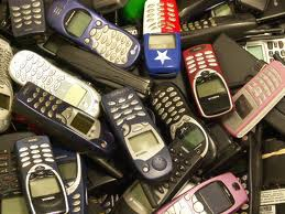 Cell, Cellphones, Phones, Pile of phones, Variety of cellphones