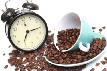 Coffee Cup and Clock